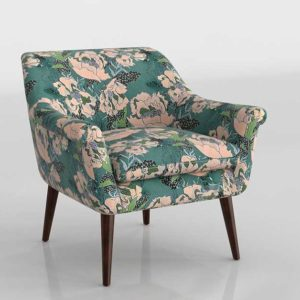 Urbanoutfitters Polly Floral Print Arm Chair