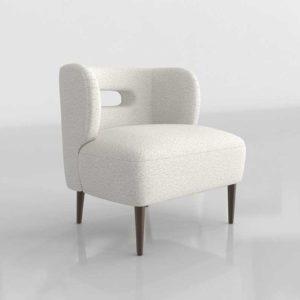 CrateAndBarrel Mimi Vegan Lambskin Chair