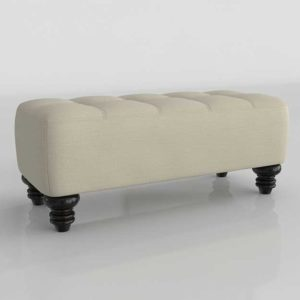 WestElm Essex Upholstered Bench Pebble Weave Oatmeal