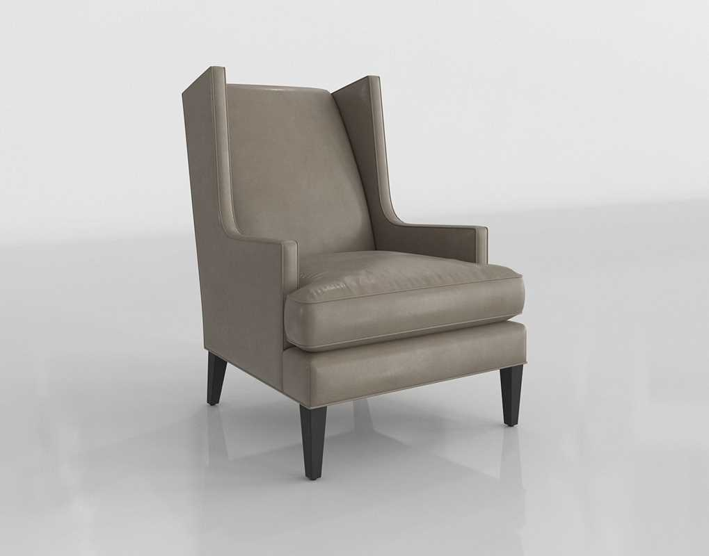Cb Luxe Leather High Wing Back Chair