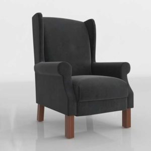 Glancing Eye and Designer 3D Armchair 0121