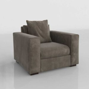 Glancing Eye and Designer 3D Armchair 0122
