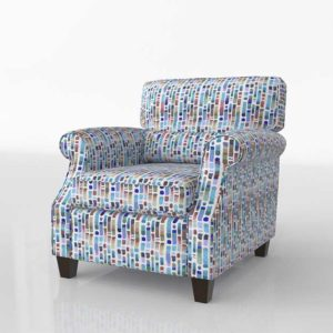Glancing Eye and Designer 3D Armchair 1223