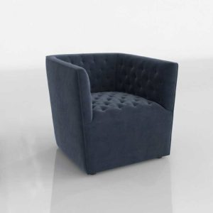 Glancing Eye and Designer 3D Armchair 1225