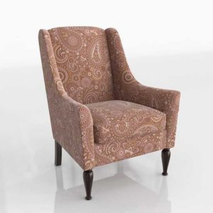 Glancing Eye and Designer 3D Armchair 1227