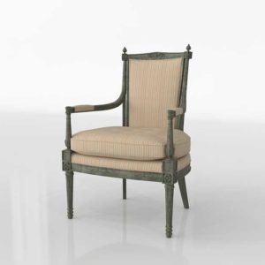 Glancing Eye and Designer 3D Armchair 1229