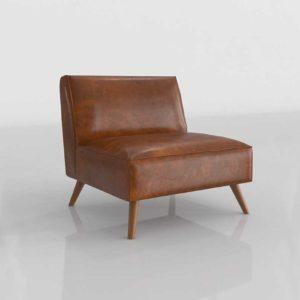 World Market Cognac Bi Cast Leather Huxley Chair