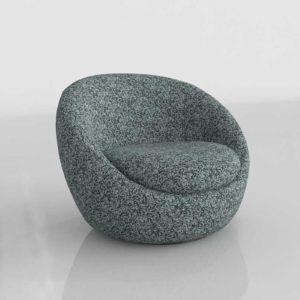 Westelm Cozy Chair Heathered Tweed Marine Poly