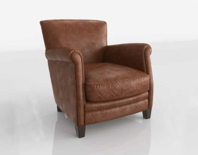Luxedecor Marshall Club Chair Chestnut Antique Leather