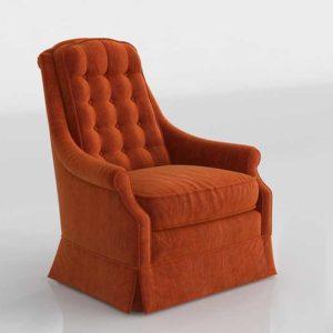 Orange Armchair 3D Spain 071