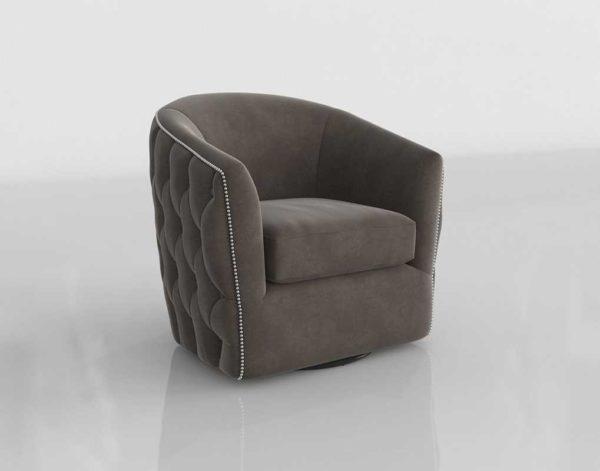 Zgallerie Winslow Swivel Chair Bella Otter