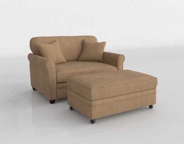 Terrific Macys Kaleigh Fabric Single Sleeper Chair Ottoman Set Stone Creativecarmelina Interior Chair Design Creativecarmelinacom