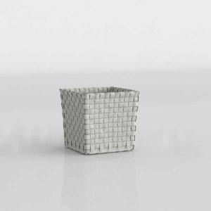 Modelado 3D Cesta en forma de cubo Сrate&Barrel