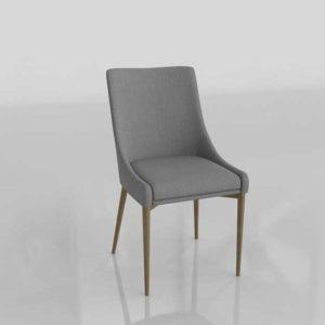 Modelado 3D Joss&Main Silla de Comedor Diseño Dominik