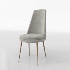 WE Finley High Back Velvet 3D Dining Chair Velvet Light Taupe