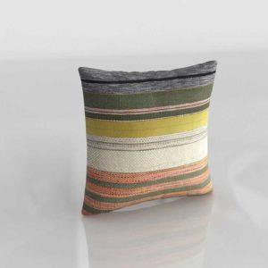 Cojin Multicolor Crate&Barrel Carreno Modelado 3D