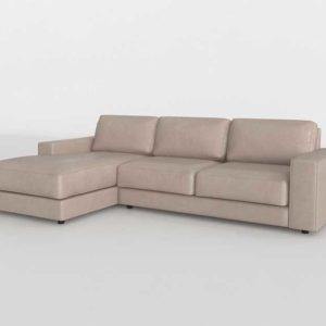 Urban Leather Saddle 2 Piece Left Chaise Summit Leather Taupe