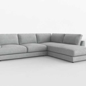 Westelm Haven 2 Piece Terminal Sectional Left Chaise