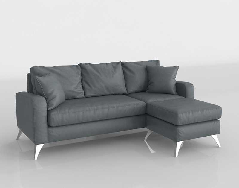 Amazon Divano Roma Furniture Bonded Leather Sectional Sofa