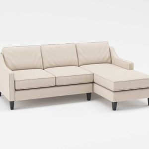 Westelm Paige Reversible Sectional Linen Weave Natural