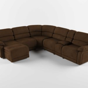 Raymourflanigan Sectional Cindy Crawford Mackenzie 6 pc Microfiber Power Reclining Sectional Sofa