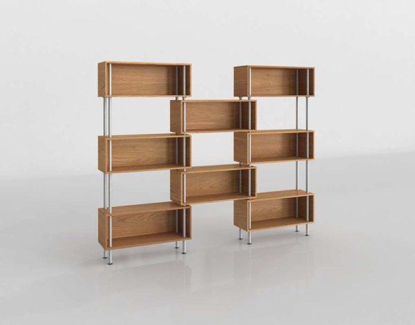 Modelado 3D Libreria Diseño en Cajas
