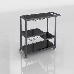 Carro de Licores 3D Diseño Moderno