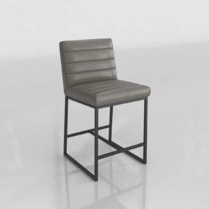 Taburete 3D CB Channel Diseño en Cuero