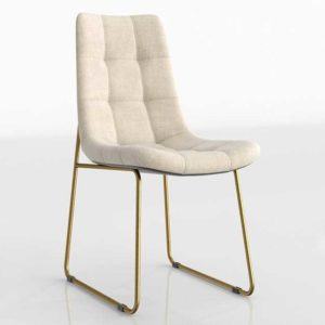 Crate&Barrel Alice Savile Natural Tufted 3D Dining Chair