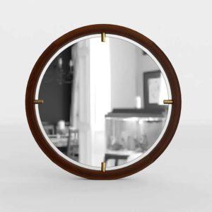3D Mirror WestElm Floating Round
