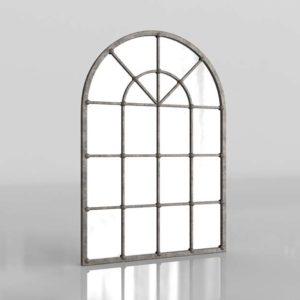 3D Mirror AshleyFurniture Oengus Silver