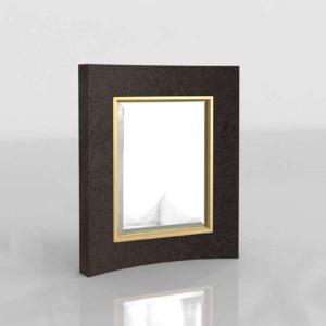 3D Mirror GlobalViews Curved Short Black
