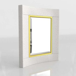 3D Mirror GlobalViews Curved Short White
