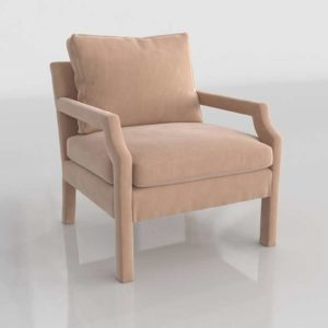 Silla 3D Anthropologie Delaney de Terciopelo