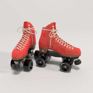 3D Roller Skates Red Design