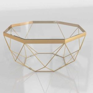 3D Coffee Table C&B Golden Origami