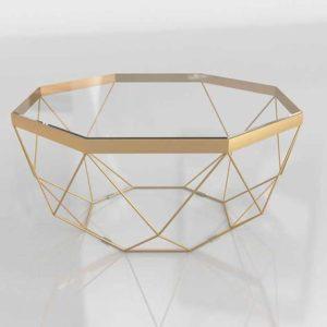 Mesa de Café 3D C&B Golden Origami