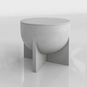 3D Planter Table CB2 Olly Large Resin