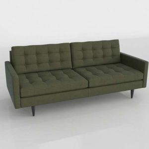 Sofá 3D C&B Petrie Diseño Midcentury Kilt