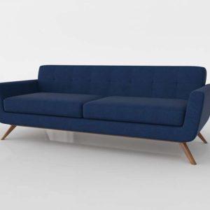 Sofá 3D Diseño Cooper Azul