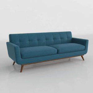 3D Sofa LexMod Engage Azure Fabric