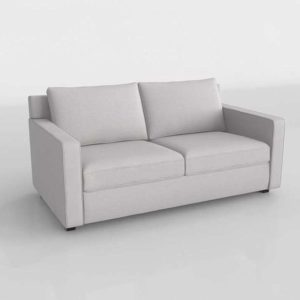 Sofá Cama 3D Westelm Henry Deluxe