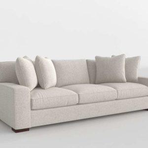 3D Sofa Bangor Fabric Stone Tan