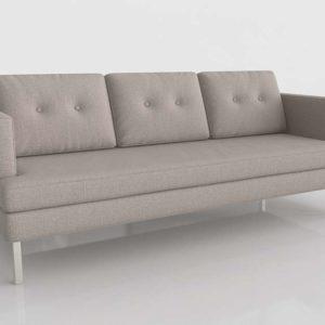 Sofá 3D Westelm Jackson de Lino