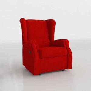 Sillón 3D SCC Orejero Rojo
