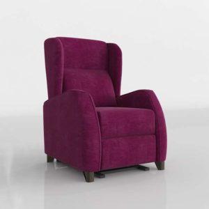 Sillón 3D SCC Púrpura Classic