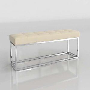 3D Bench Wayfair Narrow Upholstered
