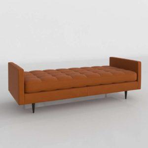 3D Bench C&B Petrie Cognac