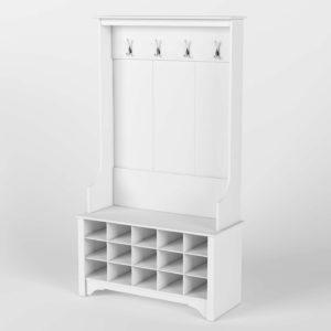 3D Coat Rack Wayfair Flatiron with Shoe Storage