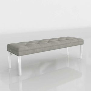 3D Bench Zgallerie Charlotte Acrylic